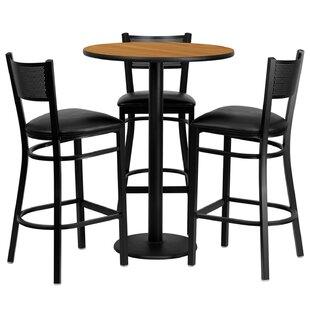 Billiot 4 Piece Pub Table Set