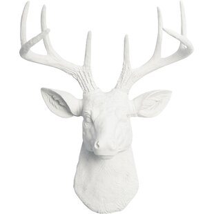 Cottage Faux Deer Head Wall Décor