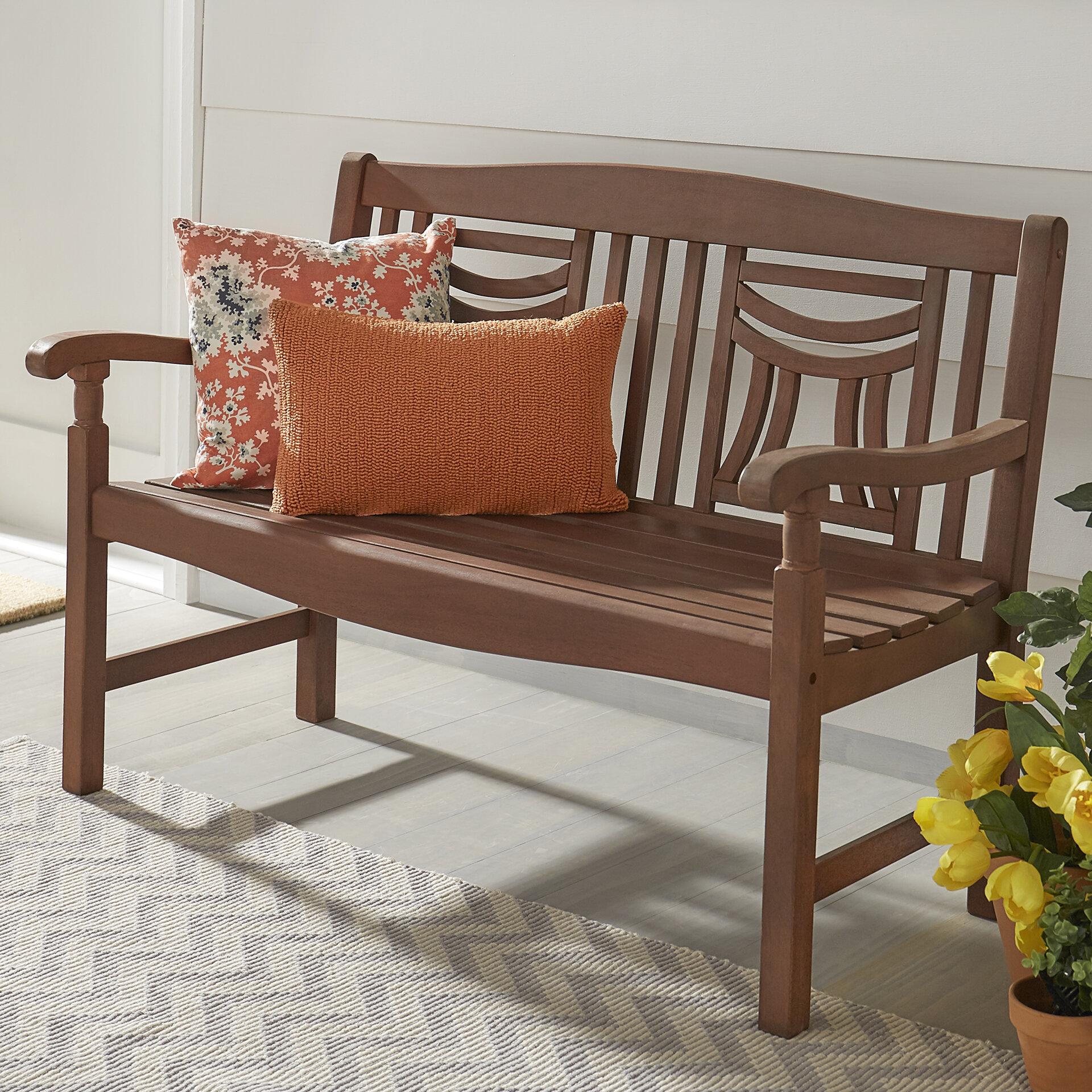 Three Posts Brook Hollow Wooden Garden Bench & Reviews   Wayfair