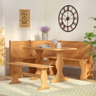 Patty 3 Piece Nook Dining Set