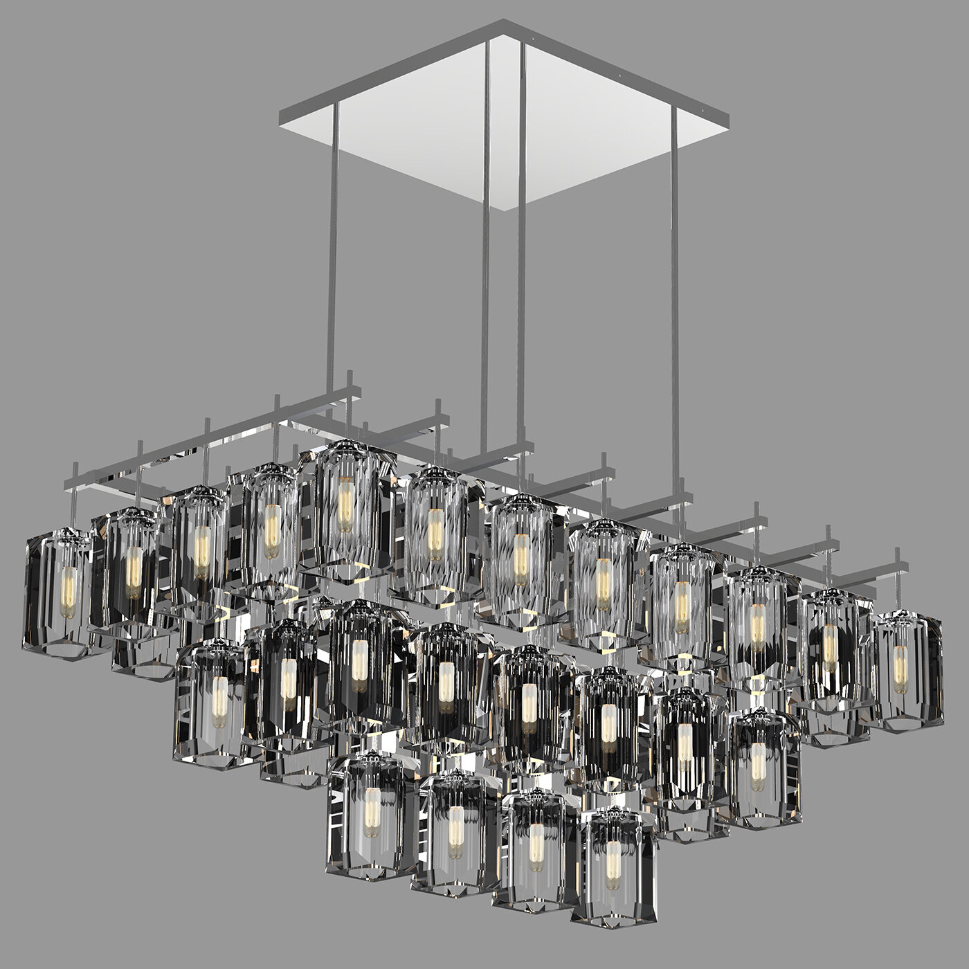 Fine art lamps monceau 40 light square rectangle chandelier wayfair