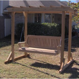 Donath Pergola Style Arbor Porch Swing With Stand