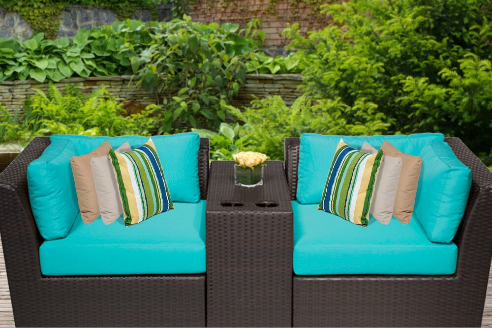 Barbados 3 Piece Deep Seating Group With Cushion