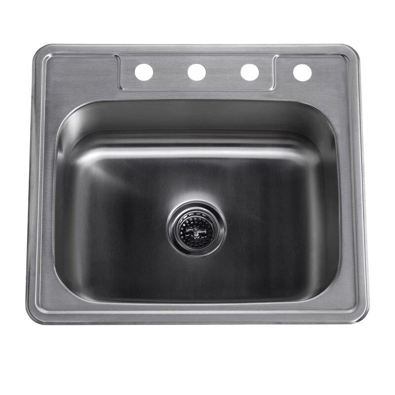 Kitchen Sink 25 X 22 Soleil 25 x 22 stainless steel drop in single bowl kitchen sink 25 x 22 stainless steel drop in single bowl kitchen sink workwithnaturefo