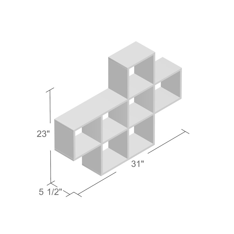 Zipcode design germain cubby wall shelf reviews wayfair germain cubby wall shelf ccuart Image collections