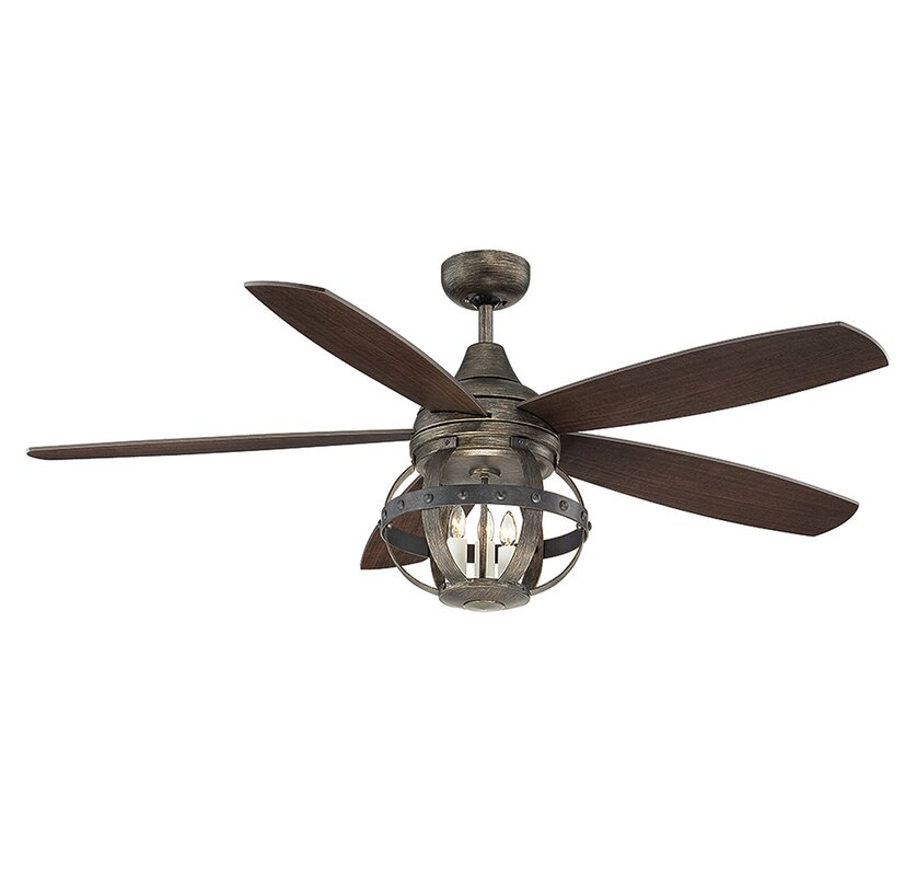 "15 Large Outdoor Ceiling Fan High Quality Ceiling Fans: Laurel Foundry Modern Farmhouse 52"" Wilburton 5 Blade"