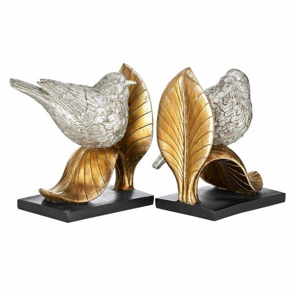 Awesome Castleton Home 2 Piece Bird On Leaf Bookends Set | Wayfair.co.uk