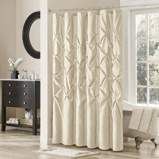 White Pintuck Shower Curtain