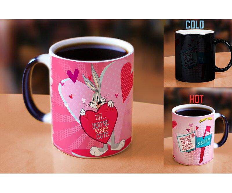 Morphing Mugs Looney Tunes Bugs Bunny Kinda Cute Valentines Day Heat