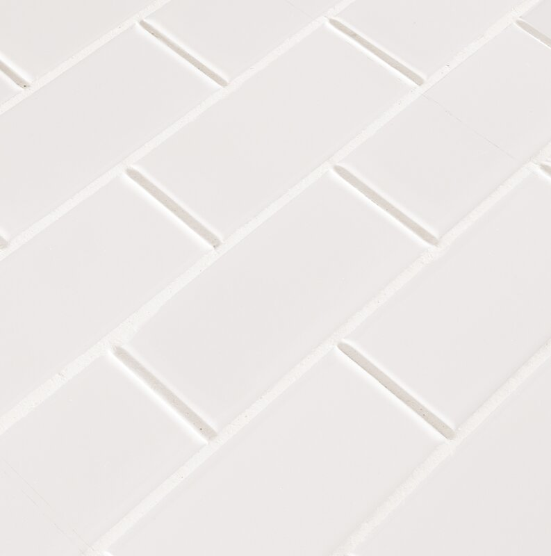 Staggered 2 X 4 Porcelain Subway Tile In White