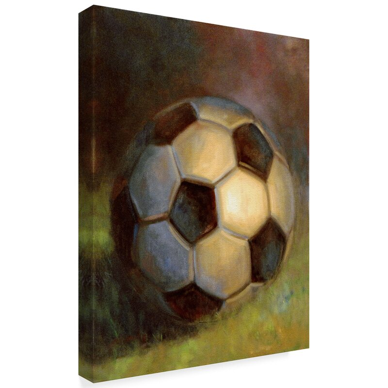 e3a93d763 Trademark Art 'Soccer Ball Abstract' Acrylic Painting Print on Wrapped  Canvas   Wayfair
