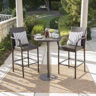 Beau Waldhaus 3 Piece Bar Height Dining Set
