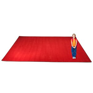 KidTastic Cherry Red Area Rug