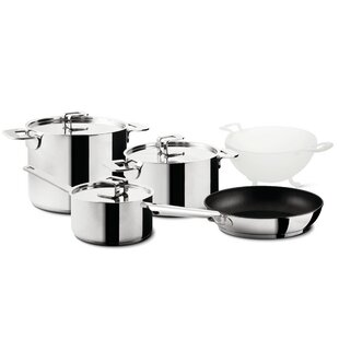 Energia 5-Piece Stainless Steel Cookware Set by Mepra