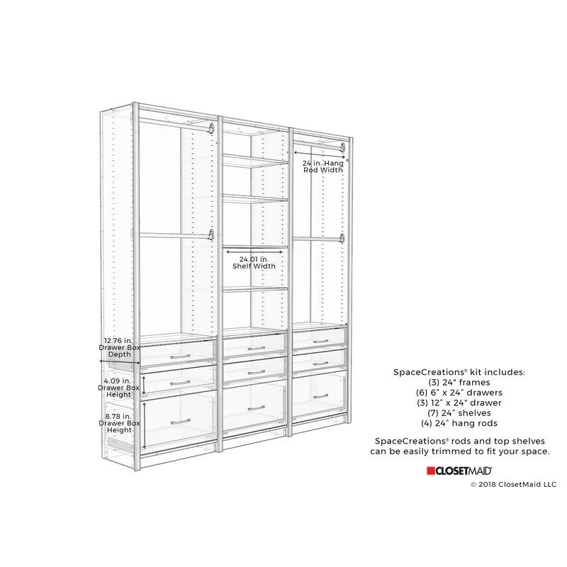 Ecreations 78 W Closet System