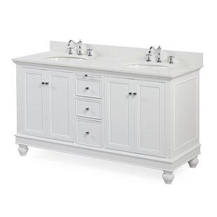Save Kitchen Bath Collection Bella 60 Double Bathroom Vanity Set