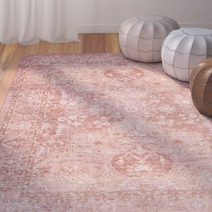 Chauncey Floral Pink Area Rug