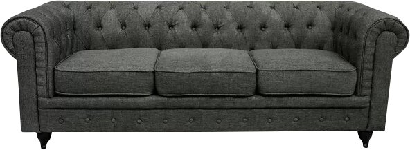 Elstone Classic Scroll Arm Tufted Chesterfield Sofa