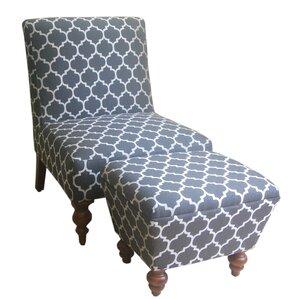 2piece stella accent chair u0026 ottoman set