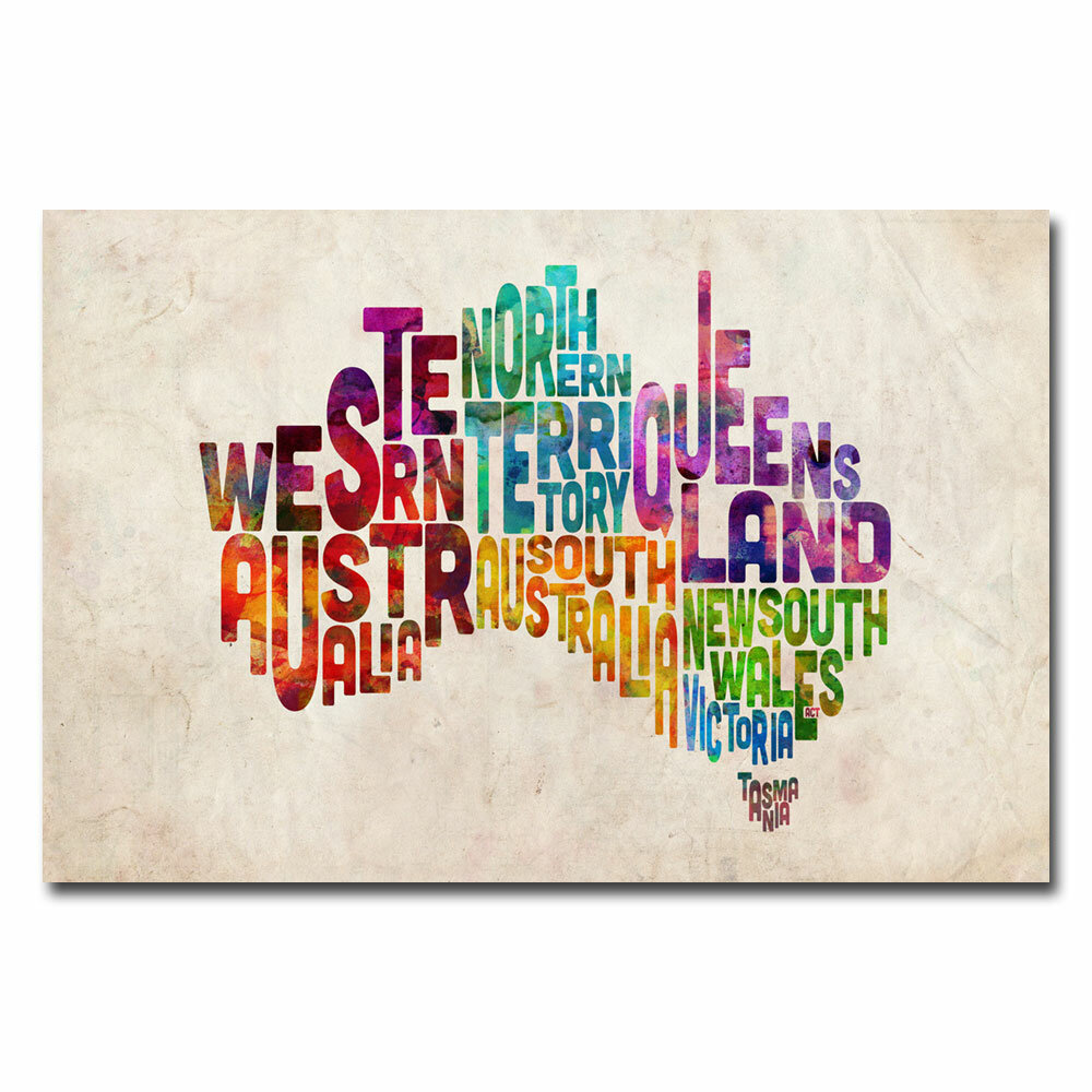 Trademark art australia states text map by michael tompsett trademark art australia states text map by michael tompsett graphic art on wrapped canvas wayfair gumiabroncs Image collections