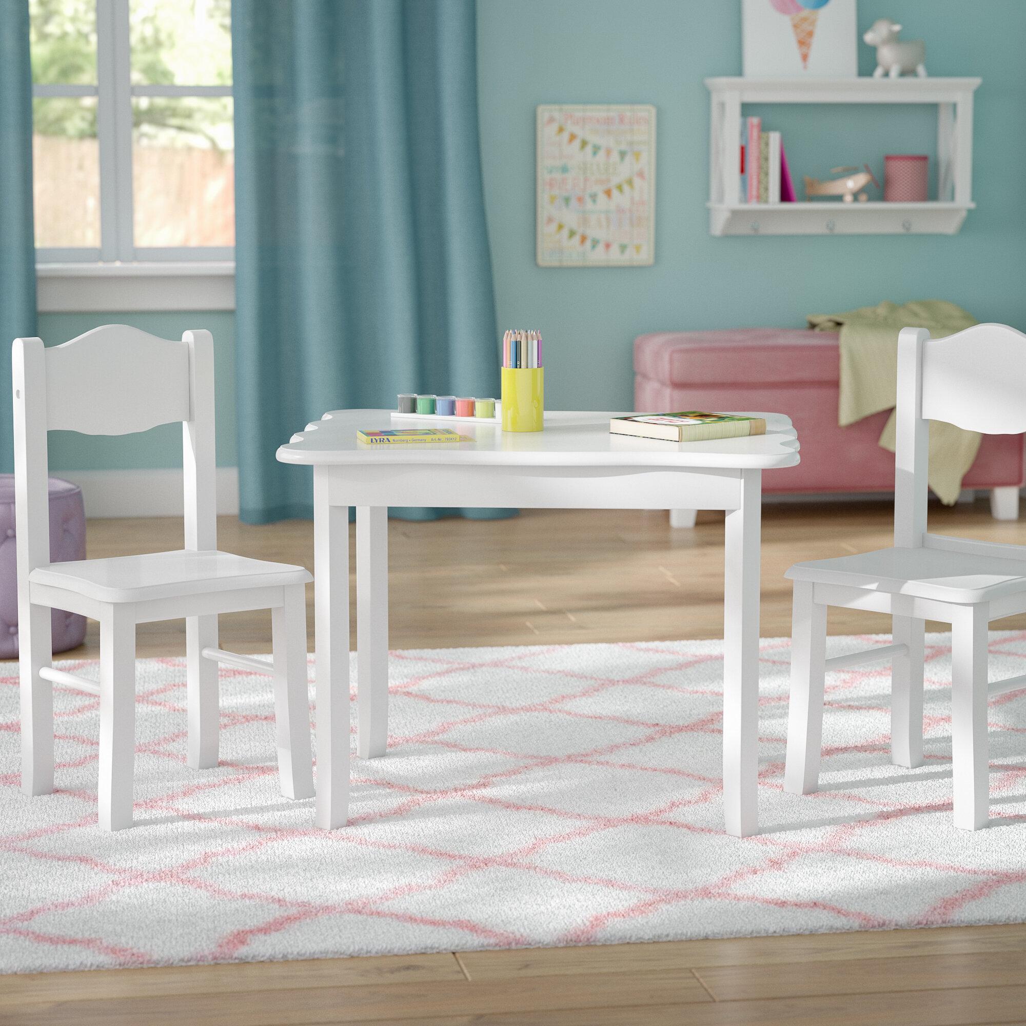 Viv + Rae Matilda Kids\' 3 Piece Table and Chair Set & Reviews | Wayfair