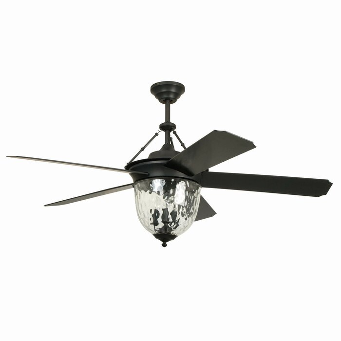 52 Harada Hangdown 5 Blade Ceiling Fan With Remote Light Kit Included