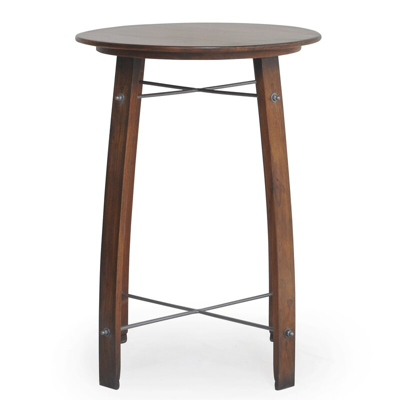 Gracie Oaks Mountainside Round Pub Table Wayfair - Cheap round bar table