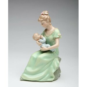 Decorative Mom Holding a Baby Boy Musical Box