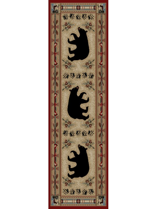 Mayberry Rug Hearthside Woodlands Bear Area Rug Amp Reviews