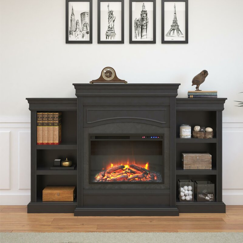 Amazoncom Yukon Electric Fireplace With Console Mantel Wall