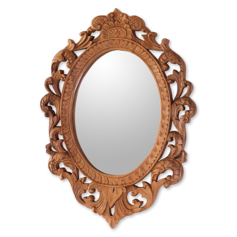 Novica Keraton Rococo Wood RococoStyle Wall Mirror Wayfair Delectable Rococo Decorative Wall Tile