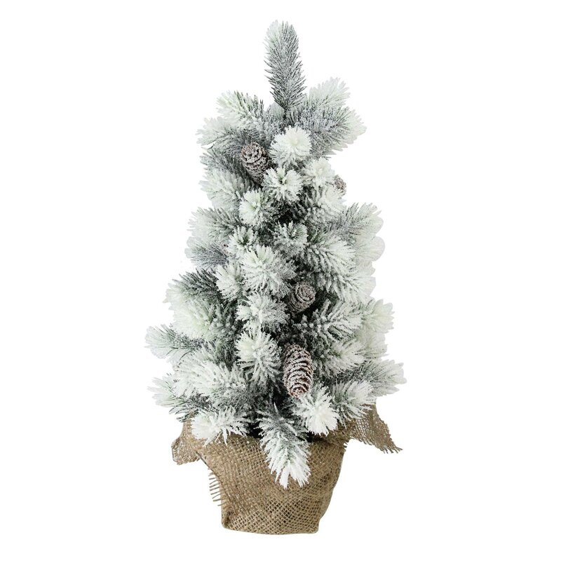 The Holiday Aisle Flocked 16 Pine Artificial Christmas Tree With