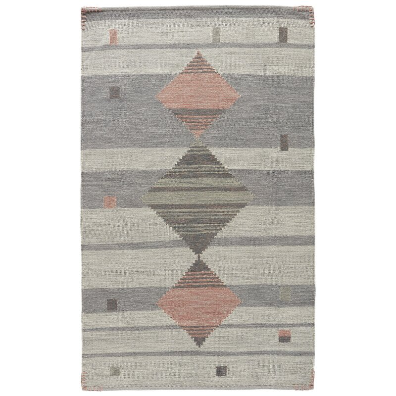 Cahone Light Gray Dusty Coral Area Rug Amp Reviews Joss Amp Main