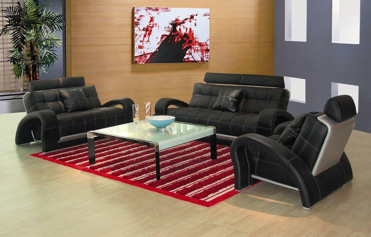 Arthur Leather 3 Piece Living Room Set Part 54