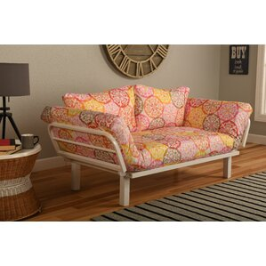 Everett Convertible Lounger in Olivia Futon and Mattress by Ebern Designs
