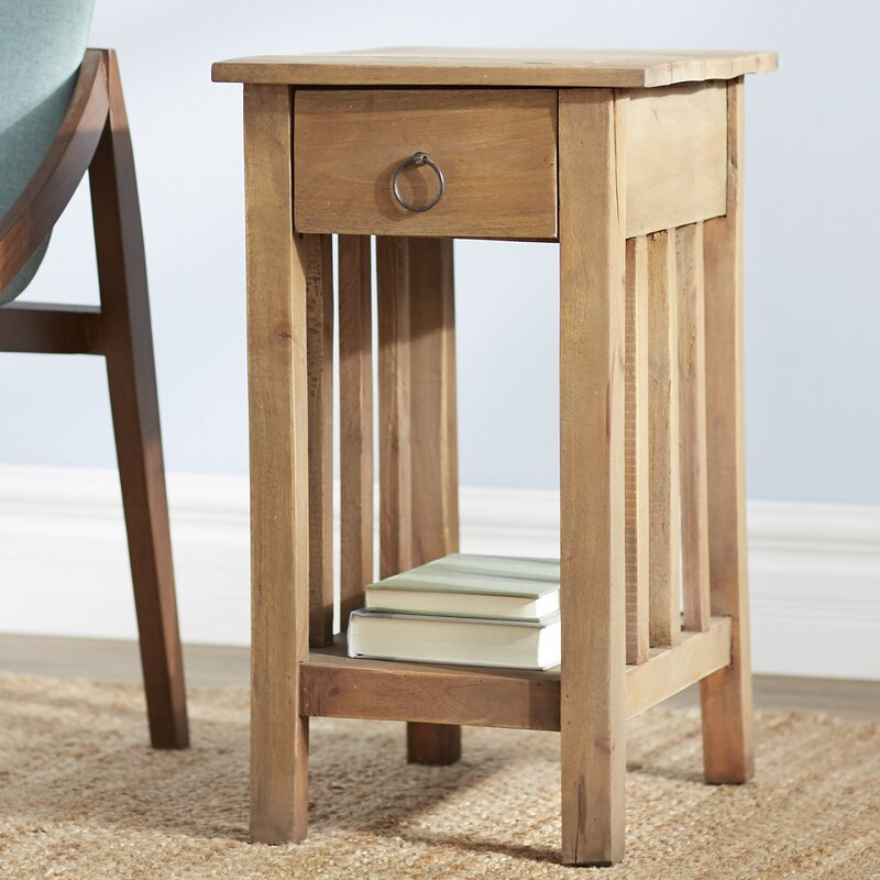 chestnut narrow top slate wood end table manchesterwood finish solid small tables com chairside