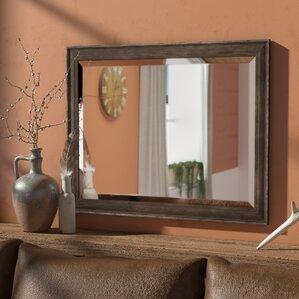 Rectangle Narrow Rustic Pine Bathroom Mirror