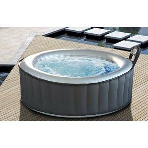 silver cloud 4person 118jet bubble spa - Wayfair Hot Tub