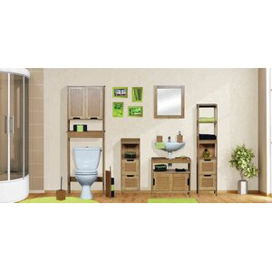 Mahe Bathroom Free Standing 11.13 W x 56.12 H Linen Tower