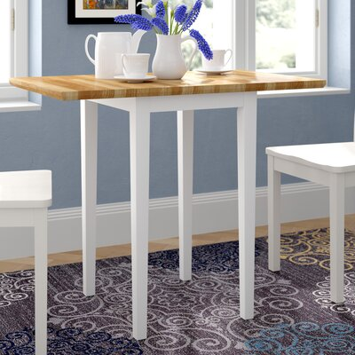 Brookhurst Dining Table Andover Mills Finish: Whte/Natural