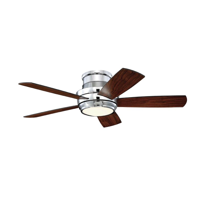 "Contemporary 44"" Cedarton Hugger 5 Blade Ceiling Fan With"