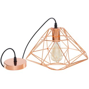 Modern contemporary rose gold pendant light allmodern wellington 1 light pendant aloadofball Images