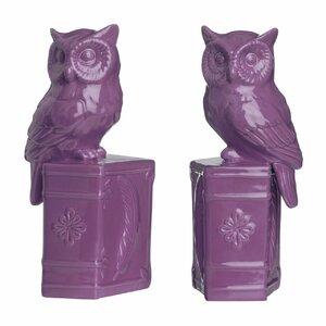 2-tlg. Buchstützen Owl on Book von Castleton H..