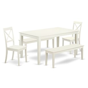Smyrna 5 Piece Solid Wood Dining Set New