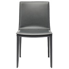 Leather Chairs Dining modern genuine leather dining chairs | allmodern