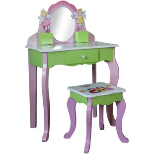 Garden Friends Dressing Table Set with Mirror by Just Kids