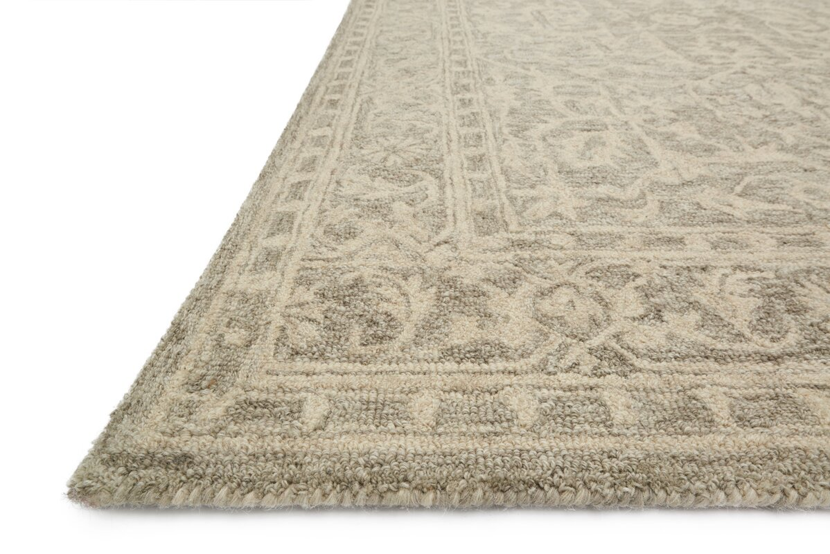 Lyle Hand Hooked Taupe Area Rug