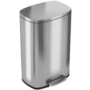 Gentil Soft Step Stainless Steel 13 Gallon Step On Trash Can
