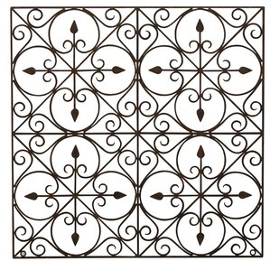 Black Wrought Iron Wall Decor wrought iron art decor | wayfair