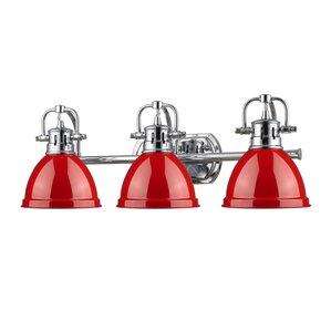 Bathroom Vanity Lights Red red shade bathroom vanity lighting you'll love   wayfair